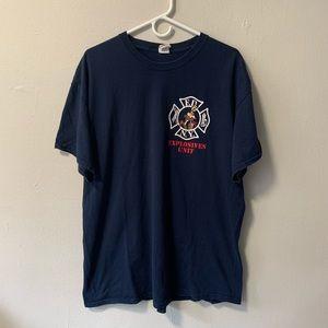 FDNY explosive unit tnt logo t shirt